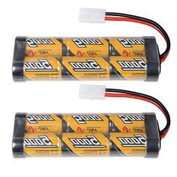 2 Pack 5000mAh 7.2 Volt Nimh RC Car Rechargeable Battery Pac
