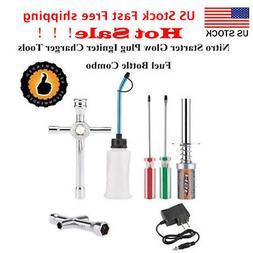 Nitro Starter Glow Plug Igniter Charger Tools Fuel Bottle Co
