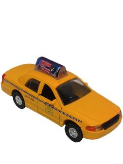 Nyc Checkered Taxi Cab Die Cast Metal Scale 1:32 With a Welc