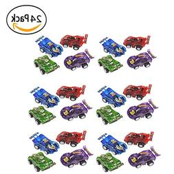 """24 Piece 2.5"""" Party Pack Assorted Pull Back Racing Cars. - F"""