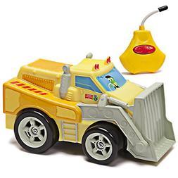 Kid Galaxy PBS Kids Toy RC Bulldozer. Toddler Remote Control