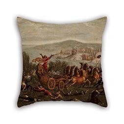 Pillow Covers Of Oil Painting Circle Of Juan De La Corte - T