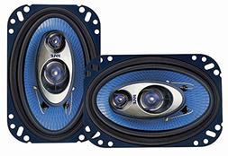 Pyle 4'' x 6'' Three Way Sound Speaker System - Pro Mid Rang