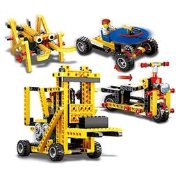 Cheerwing Power Machinery 4-in-1 Forklift Building Blocks Se
