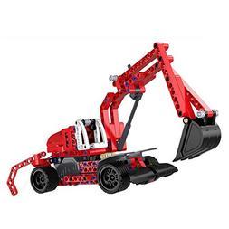 SZJJX Pull Back Excavators 2 in 1 Building Blocks Kits Frict