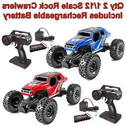 Qty 2 1/12 4WD Danchee RC Rock Crawler Remote Control Off-ro