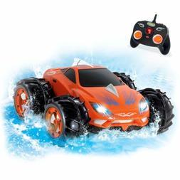 Racing Amphibious Remote Control Car Orange - 360 Degree Spi