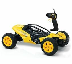 KidiRace Racing Buggy Remote Control Car Yellow Fun and Easy