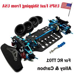 RC 1/10 4WD Alloy Metal & Carbon Touring Car Frame Kit For T