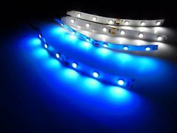 RC Blue and White Underbody LED Strip Lights Superbright Car