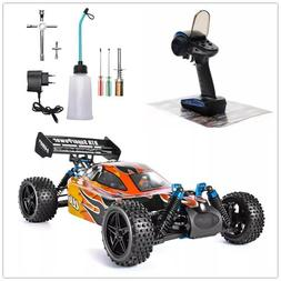 RC Car 1:10 Scale 4wd Two Speed Off Road Nitro Gas Power Rem