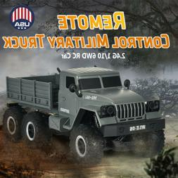 RC Car 15km/h 2.4G 1:10 Military Truck Steering System Long-