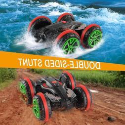 Rabing RC Car 2.4 Ghz 4WD Stunt Car 6CH Remote Control Amphi