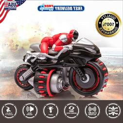 RC Car 2.4GHz Remote Control Motorcycle 7.2V Battery 360°Ve