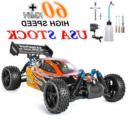 HSP RC Car 4wd 1:10 RTR Off Road Buggy Nitro Gas Two Speed R