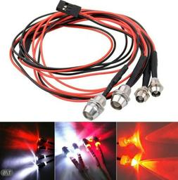 RC car crawler Headlights and tail lights w/5mm & 3 mm metal