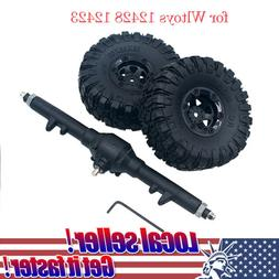 RC Car Part Rear Axle Rear Gearbox + 2pcs Tyre For Wltoys 12