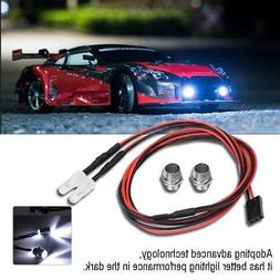 RC Car Roof  2* LED Light Spotlight 5mm Headlights for 1/10