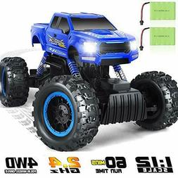 Rc Cars Monster Truck 4Wd Dual Motors Rechargeable Off Road
