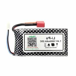 Hosim RC Cars Replacement Battery 1600mAh Li-Po Rechargeable