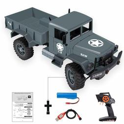 RC Cars for Kids,2.4GHZ Remote Control Military Truck 4WD Of