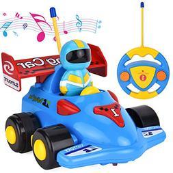 FILWO RC Cartoon Car, Remote Control Car with Light Music Ra