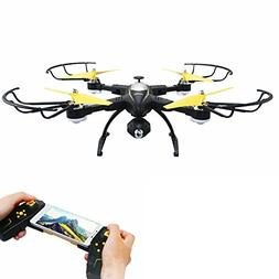 Rabing RC Drone Foldable FPV VR Wifi RC Quadcopter 2.4GHz 6-