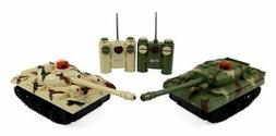 RC Fighting Battle Tanks - Set of 2 Abrams Remote Control Ba