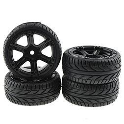 Rowiz 4PCS RC Flat Racing Tires Tyre Wheel Rim Fit HSP HPI 1