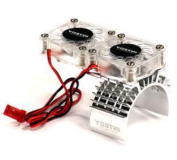 Integy RC Model Hop-ups T8534SILVER Motor Heatsink + Twin Co