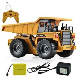 RC Metal Dump Truck Six Channel HuiNa Construction 1/18  all
