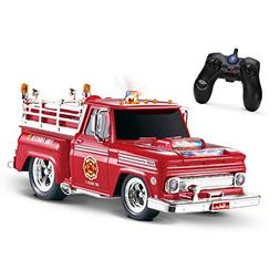 KidiRace RC Remote Control Fire Engine Truck, Rechargeable R