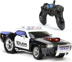 Kidirace RC Remote Control Police Car for Kids, Rechargeable