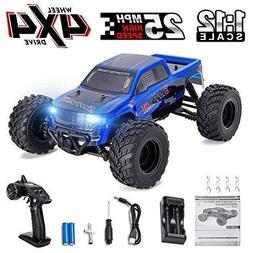 RC Truck 1:12 4WD 2.4GHz High Speed 25MPH Durable for Kids a
