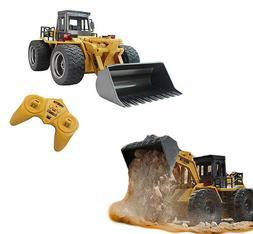 RC Truck metal Shovel Loader Tractor 2.4G 4 Wheel Drive Bull