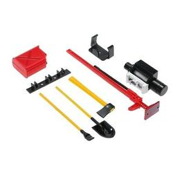 RC Vehicle Parts Tools Oil Tank Shovel Winch Jack for 1/10th