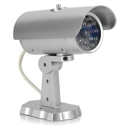 Realistic Dummy Surveillance Security Camera with Blinking R