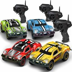 Remote Control Car - Mega Set of 4 Mini Racing Coupe Cars -