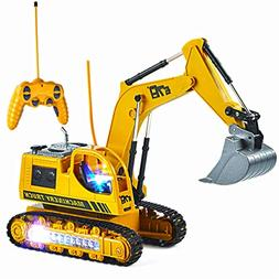 Mioshor Remote Control Excavator Toy for Toddlers,5CH Full F