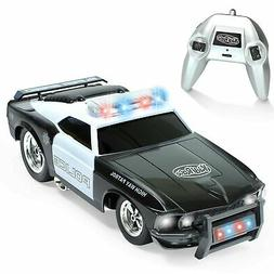KidiRace Remote Control Police Car with Flashing Lights & So