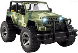 WolVol Off-Road Military Fighter Car Toy with Lights and Sou
