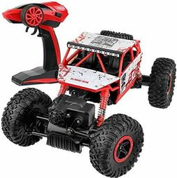 NEW Click N' Play Rock Crawler RC Car Red Vehicle