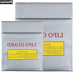 Taousa Silver Lipo Battery Guard Sleeve/Bag Fireproof Explos