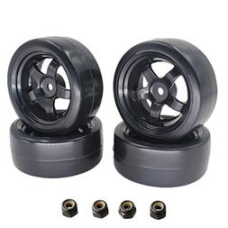 Smooth surface Plastic 26mm RC Drift Tires & Wheel Rims 12mm