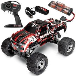 Traxxas Stampede XL-5 RED 2WD RTR RC Truck w/ID Battery & Qu