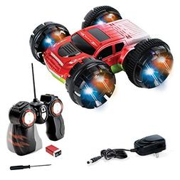 KidiRace Stunt Car, 360 Degree Spinning and Flips, Double Si