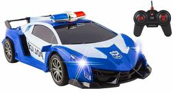 Large Remote Control Super Exotic Police RC Car with Lights