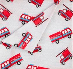 Kute Kids Super Soft Sheet Set - Fire Trucks - Brushed Micro