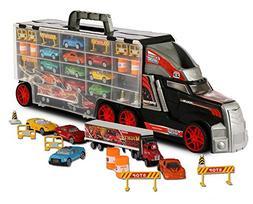 ToyThrill Super Transport Truck Carrier Toy – Plastic Tran
