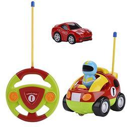 bangcool Toddler Remote Control Car, RC Cartoon Race Car Veh